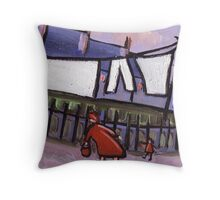 Come along child Throw Pillow