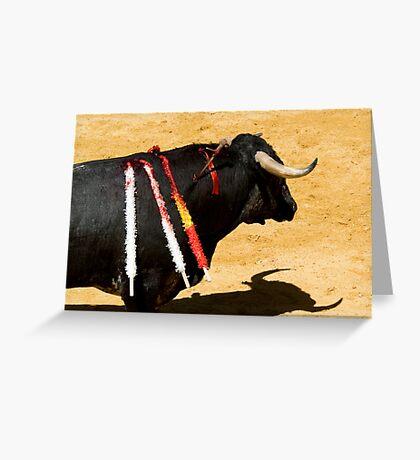 Bull and Sword. Greeting Card