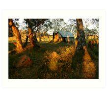 First Rays, Howitt Hut Victorian High Plains Art Print