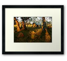 First Rays, Howitt Hut Victorian High Plains Framed Print