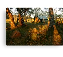 First Rays, Howitt Hut Victorian High Plains Canvas Print