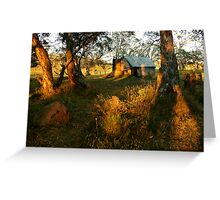 First Rays, Howitt Hut Victorian High Plains Greeting Card