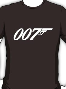 007 James Bond White and black T-Shirt