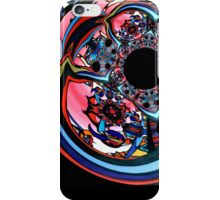 Rose contemporary abstract art red black floral design iPhone Case/Skin