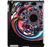 Rose contemporary abstract art red black floral design iPad Case/Skin