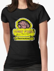Fast food for thought (Distressed look) Womens Fitted T-Shirt