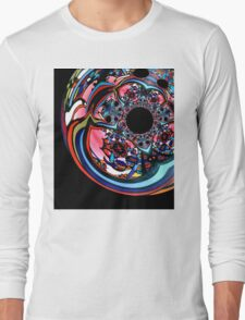 Rose contemporary abstract art red black floral design T-Shirt