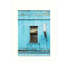 Window on Blue Art Print