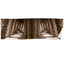 Guell Park in Barcelona Poster