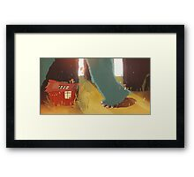 land of monsters Framed Print