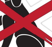 no dogs Sticker