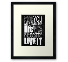 Don't Ever Give Up ~ Color Reverse Framed Print
