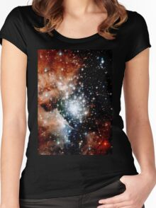 Red Galaxy Women's Fitted Scoop T-Shirt