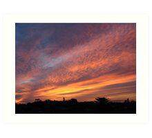 Big sunset Art Print