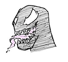Doodle - Venom Tongue Photographic Print