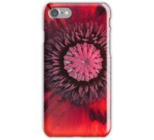 Chic Zingy Poppy - Textured iPhone Case/Skin