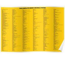 Dewey Decimal System by Whole Decimals - NOT READABLE AT SMALL SIZES Poster