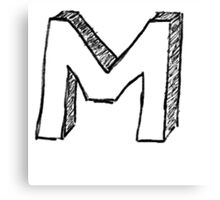 "Doodle - The Mighty ""M"" Canvas Print"