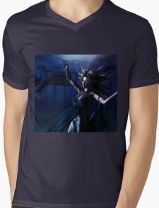 Woman under water Mens V-Neck T-Shirt
