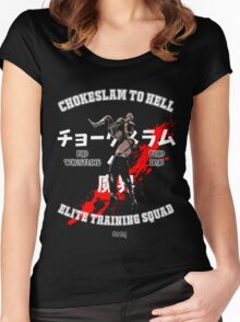 Chokeslame Elite Training Squad Women's Fitted Scoop T-Shirt