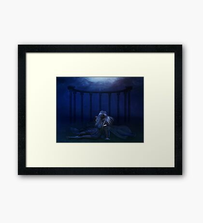 Woman under water 4 Framed Print