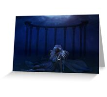 Woman under water 4 Greeting Card