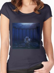 Woman under water 4 Women's Fitted Scoop T-Shirt