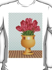 Bouquet of tulips in vase T-Shirt