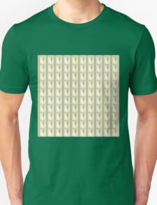 Green Stripes and Tulips Unisex T-Shirt