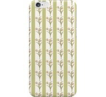 Green Stripes and Tulips iPhone Case/Skin