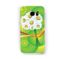 Chamomile with yellow and red ribbon Samsung Galaxy Case/Skin