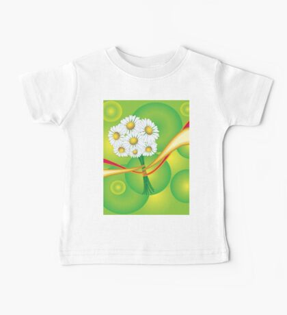 Chamomile with yellow and red ribbon Baby Tee