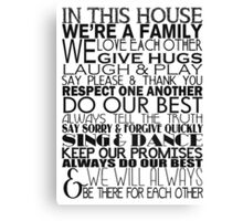 In This House... Canvas Print