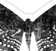 Grunge Butterfly Black Sticker