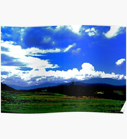 Blue skies for David H. Poster