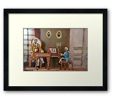 Mozart a the Court in Vienna Framed Print
