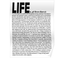 LIFE: Definition ~ Reverse Color Poster
