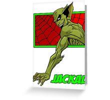 Jackal Greeting Card