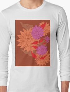 Colorful Flower Ornament 2 Long Sleeve T-Shirt