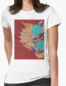 Colorful Flower Ornament 3 Womens Fitted T-Shirt