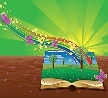 Magic book by AnnArtshock