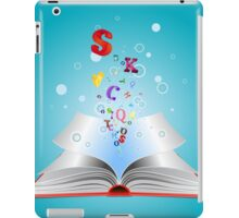 Opened book with letters iPad Case/Skin