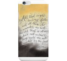 All that glitters inspirational quote handwritten iPhone Case/Skin