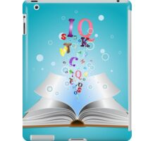 Opened book with letters 2 iPad Case/Skin