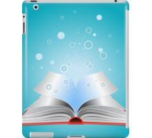 Opened book with particles iPad Case/Skin