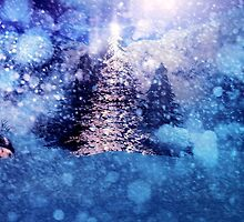 Abstract snowy background by AnnArtshock