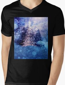 Abstract snowy background Mens V-Neck T-Shirt