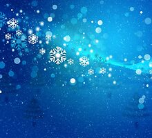 Abstract snowy background 3 by AnnArtshock