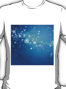 Abstract snowy background 3 T-Shirt