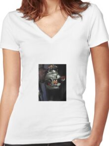 Lost in Space Robot Women's Fitted V-Neck T-Shirt